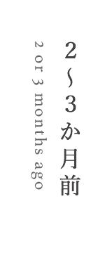 2〜3か月前/2 or 3 months ago