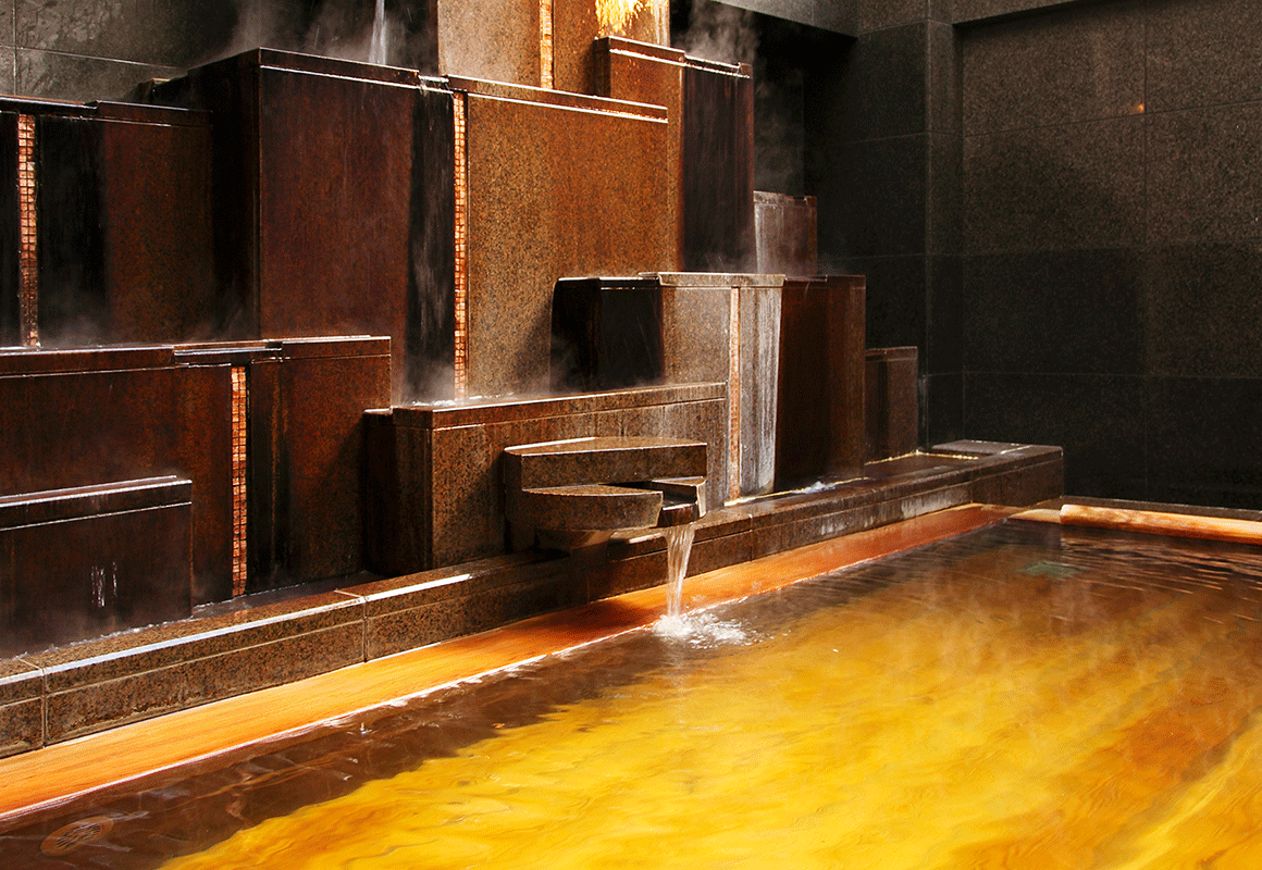 天然温泉入浴
