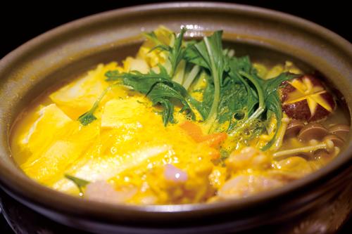 鶏の南瓜白湯鍋